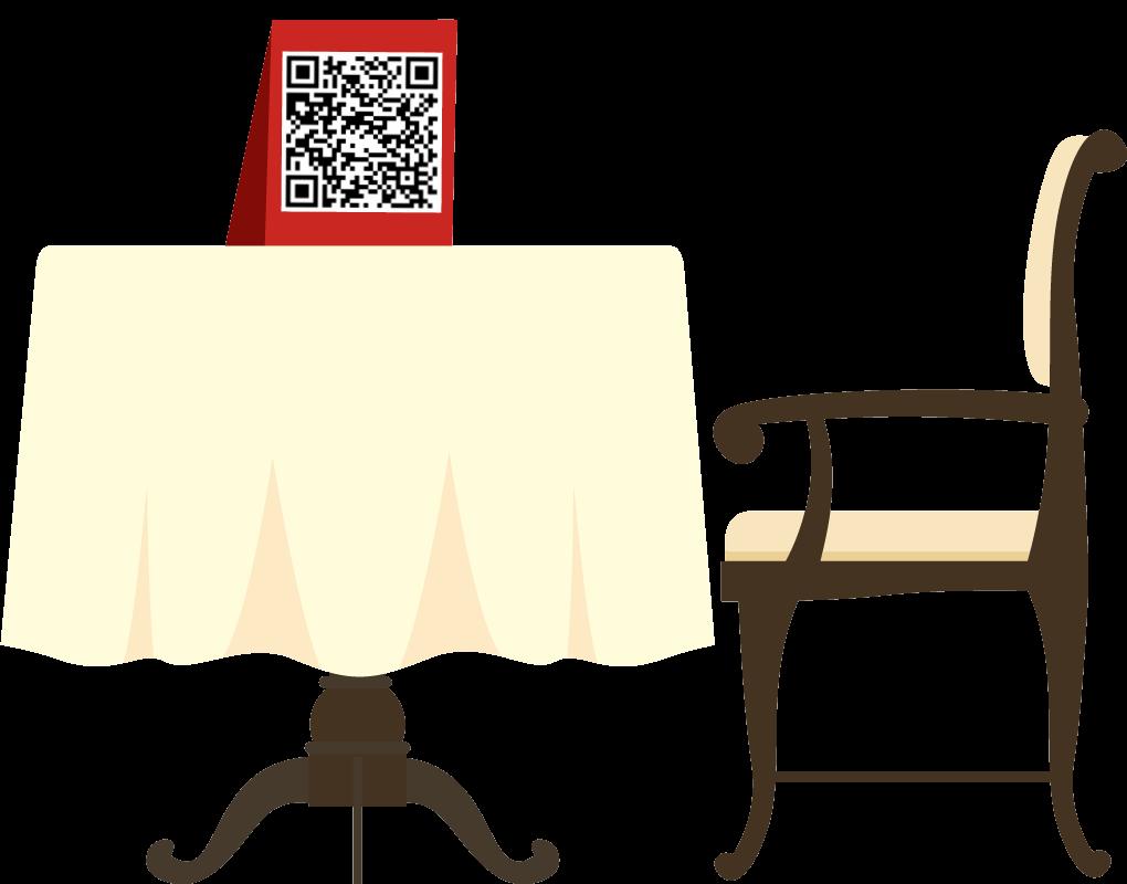 Hängen Sie den QR-Code in Ihrem Restaurant aus