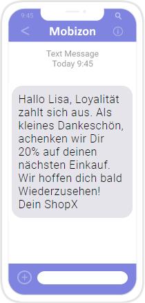 SMS: Kundenloyalität belohnen