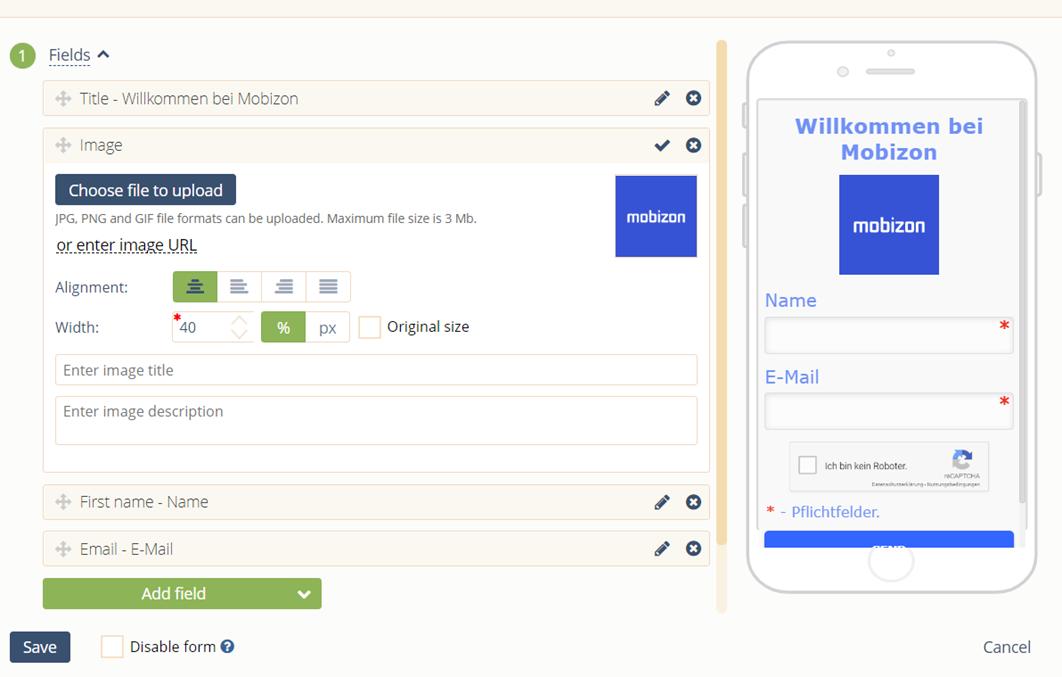 Web-Formulare Designer