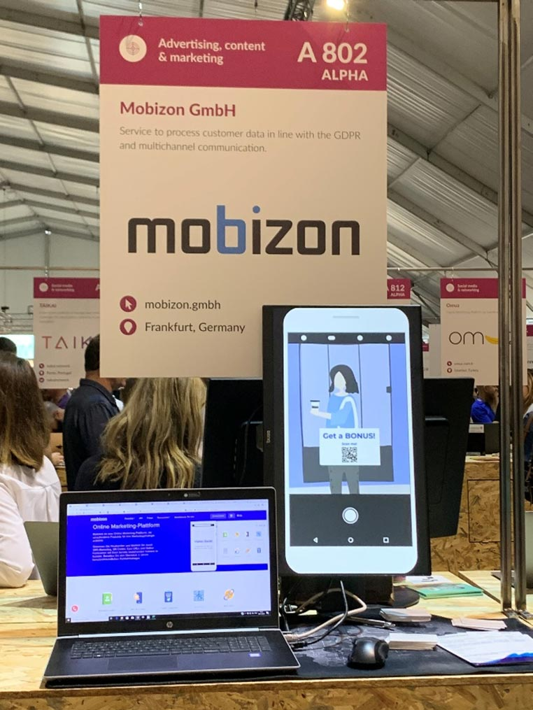 WebSummit2019 - Our stand set up on exhibition day