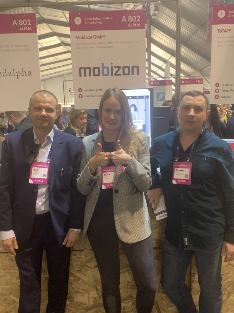 WebSummit2019 - Our web summit team