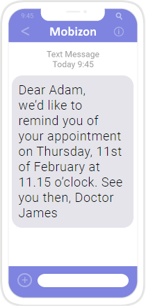 Doctor's appointment reminder