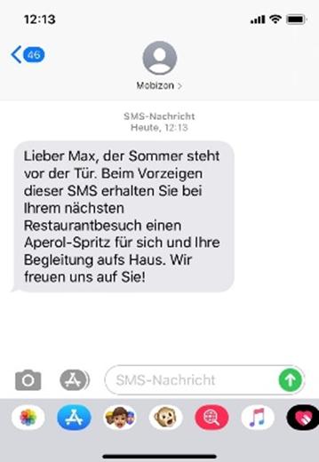 können eine SMS