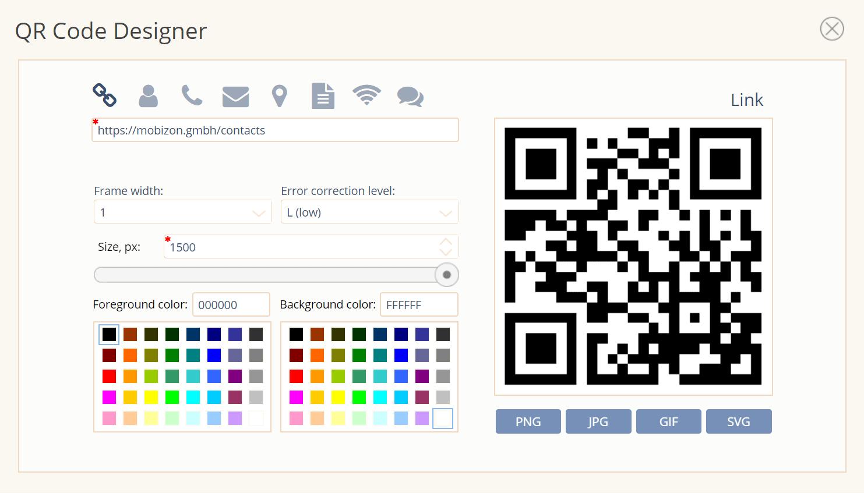 Easy QR code generator
